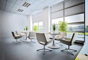3d render of empty office interior