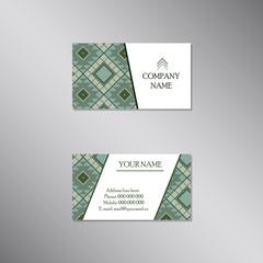 Creative business card with geometric modern ornament. Design vector set.