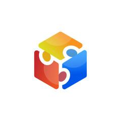 people box logo element. people logo template