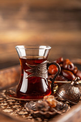 Turkish tea in a glass