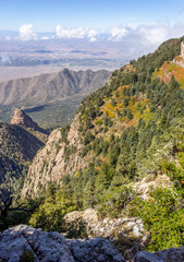 Sandia Mountains in the Fall