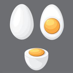 Cartoon egg isolated