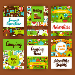 Camping Invitation Template Set