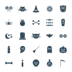 Halloween Solid Web Icons