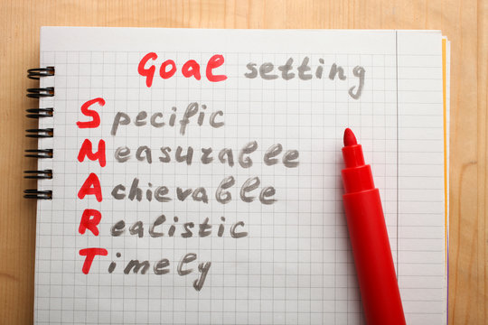 Notepad with goal setting