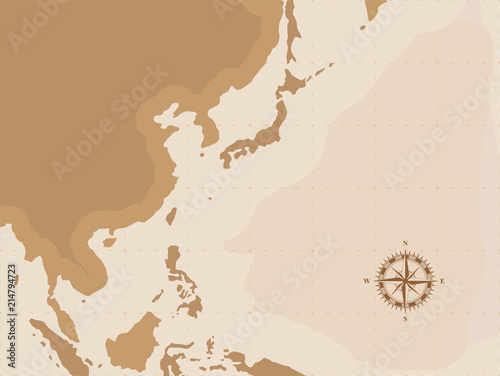 Brown retro world map with compass flat vector illustration eps10 brown retro world map with compass flat vector illustration eps10 gumiabroncs Gallery