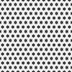 Abstract background. Seamless pattern. Monochrome stars