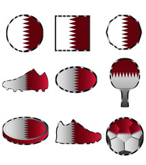 flag of Qatar, set the various icon colors of the flag of Qatar