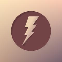 lightning icon. Bolt