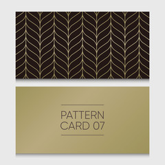 Pattern card 07. Background vector design element.