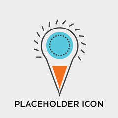 Placeholder icon vector sign and symbol isolated on white background, Placeholder logo concept