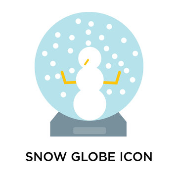 Snow globe icon vector sign and symbol isolated on white background, Snow globe logo concept
