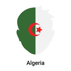 Algeria icon vector sign and symbol isolated on white background, Algeria logo concept
