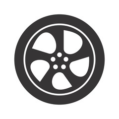 tire logo. wheel icon. circle symbol. vector eps 08.