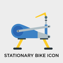 Stationary bike icon vector sign and symbol isolated on white background, Stationary bike logo concept