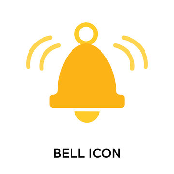 Bell icon vector sign and symbol isolated on white background, Bell logo concept