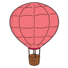 vector of hot air balloon