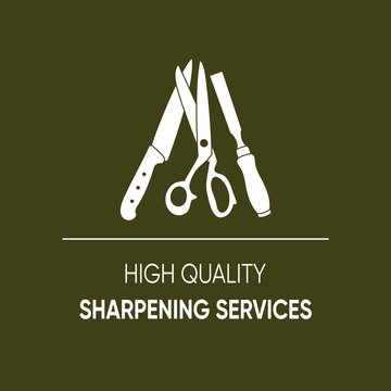High quality sharpening services icon