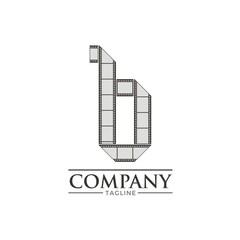 Letter B Filmstrip Logo