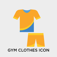 Gym clothes icon vector sign and symbol isolated on white background, Gym clothes logo concept
