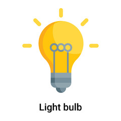 Light bulb icon vector sign and symbol isolated on white background, Light bulb logo concept