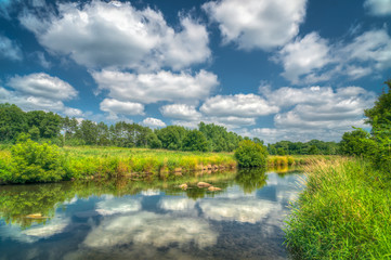 Willow River and Reflecting Clouds in Western Wisconsin