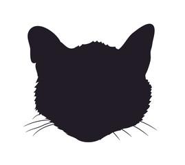 Cat silhouette, vector