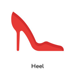 Heel icon vector sign and symbol isolated on white background, Heel logo concept