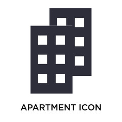 Apartment icon vector sign and symbol isolated on white background, Apartment logo concept