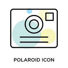Polaroid icon vector sign and symbol isolated on white background, Polaroid logo concept