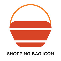 Shopping bag icon vector sign and symbol isolated on white background, Shopping bag logo concept