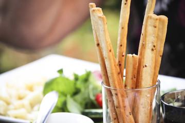 Breadsticks with dinner