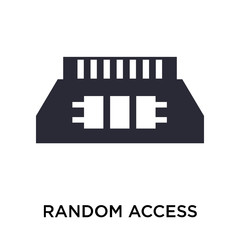 Random access memory chip icon vector sign and symbol isolated on white background, Random access memory chip logo concept