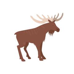Sweden elk symbol vector illustration.  Nordic moose icon isolated on white background.