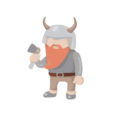 Sweden culture symbol vector illustration.  Swedish viking figure  isolated on white background.