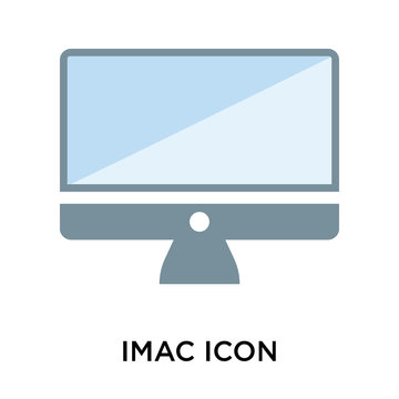 Imac icon vector sign and symbol isolated on white background, Imac logo concept
