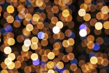 Defocused night lights, blurred sparkles