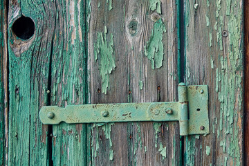Holzfenster Detail mit Astloch