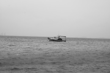 picture of a boat in the sea