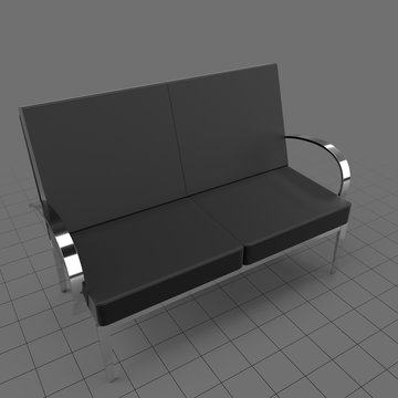 Waiting room bench