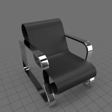 Modern waiting room armchair