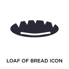 Loaf of Bread icon vector sign and symbol isolated on white background, Loaf of Bread logo concept