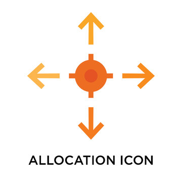 Allocation icon vector sign and symbol isolated on white background, Allocation logo concept