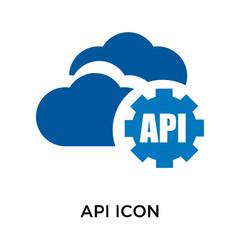 Api icon vector sign and symbol isolated on white background, Api logo concept