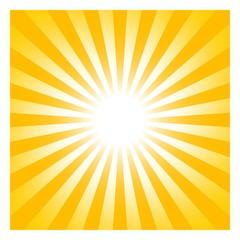 Sonne oder Sonnenschein Symbol als Vektor auf einem weißen isolierten Hintergrund