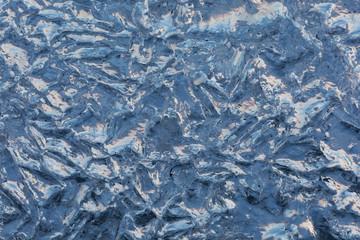 Papier Peint - frozen blured ice . abstract winter background.