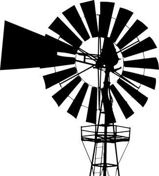 windmill black silhouette