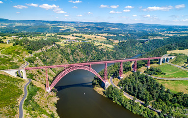 Foto auf AluDibond Bridges Garabit Viaduct, a railway bridge across the Truyere in France