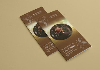 Funeral Program Tri-fold Layout
