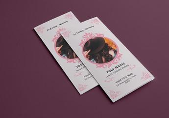 Funeral Program Tri-fold Layout